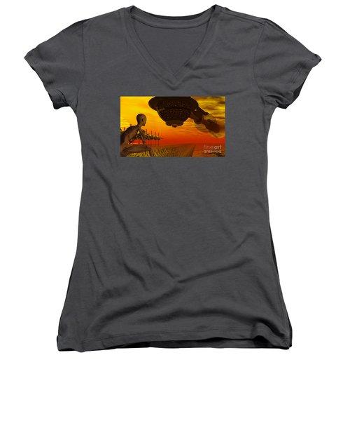 Alien Homecoming Women's V-Neck T-Shirt