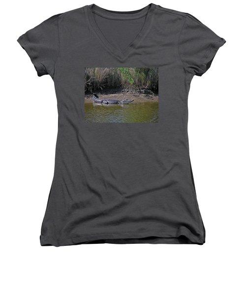 Alligator Women's V-Neck T-Shirt