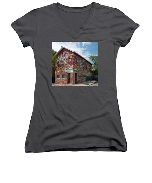 Art House South Chicago Mural Women's V-Neck T-Shirt