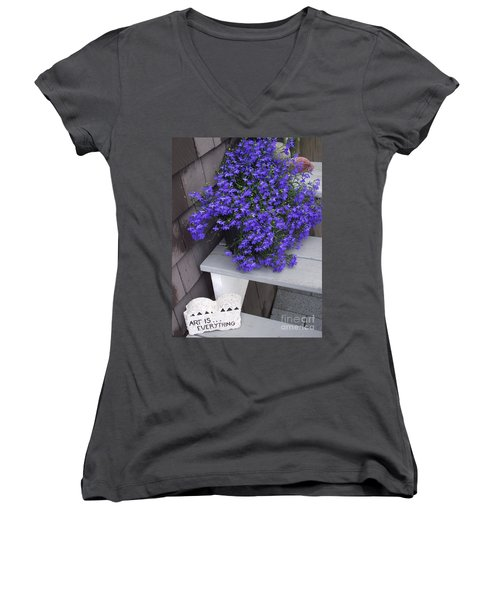 Art Is Everything Women's V-Neck (Athletic Fit)