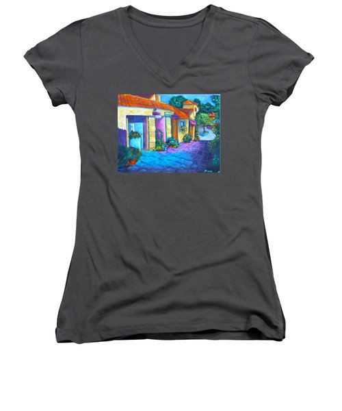 Artist Village Women's V-Neck (Athletic Fit)