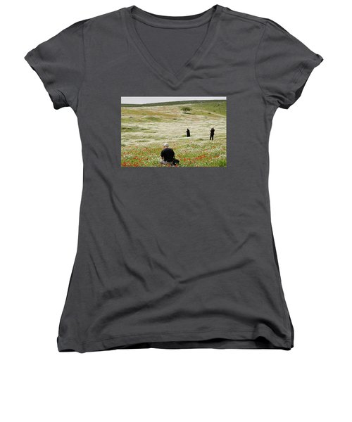 At Lachish's Magical Fields Women's V-Neck