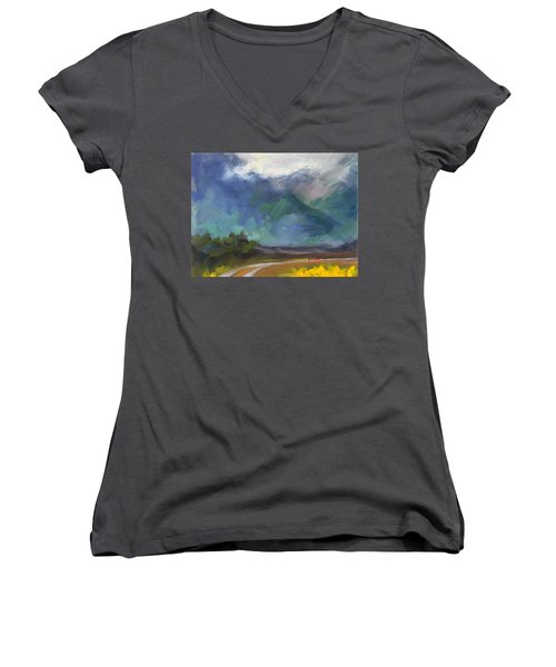 At The Feet Of Giants Women's V-Neck