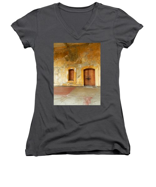 Bar The Doors Women's V-Neck (Athletic Fit)
