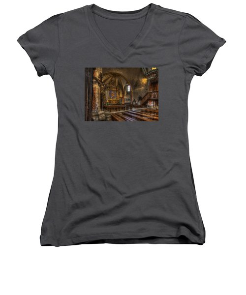 Baroque Church In Savoire France 2 Women's V-Neck (Athletic Fit)