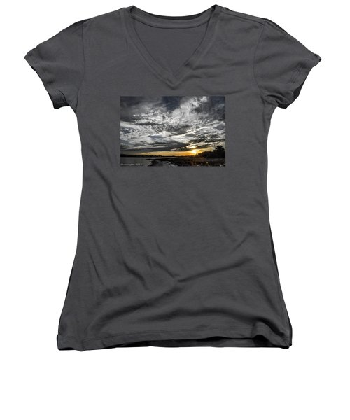 Beautiful Days End Women's V-Neck (Athletic Fit)