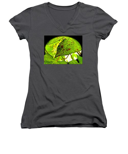 Women's V-Neck T-Shirt (Junior Cut) featuring the digital art Beautiful Deday by Debbie Portwood