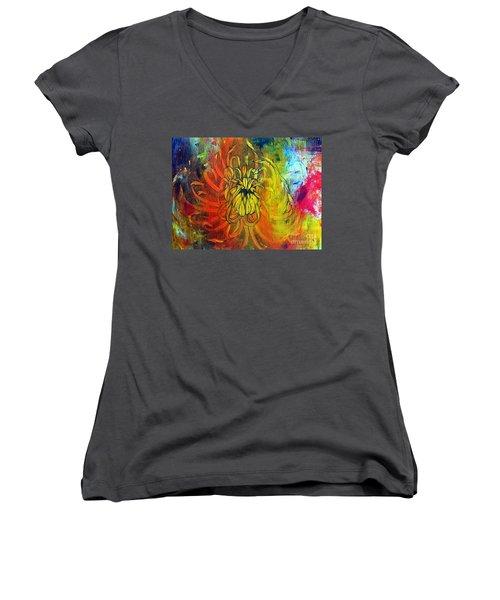 Beautiful Mistake Women's V-Neck T-Shirt (Junior Cut) by Sandro Ramani