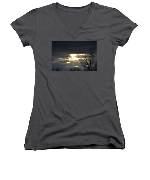 Break In The Clouds Women's V-Neck T-Shirt