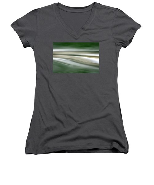 Women's V-Neck T-Shirt (Junior Cut) featuring the photograph Breath On The Water by Cathie Douglas