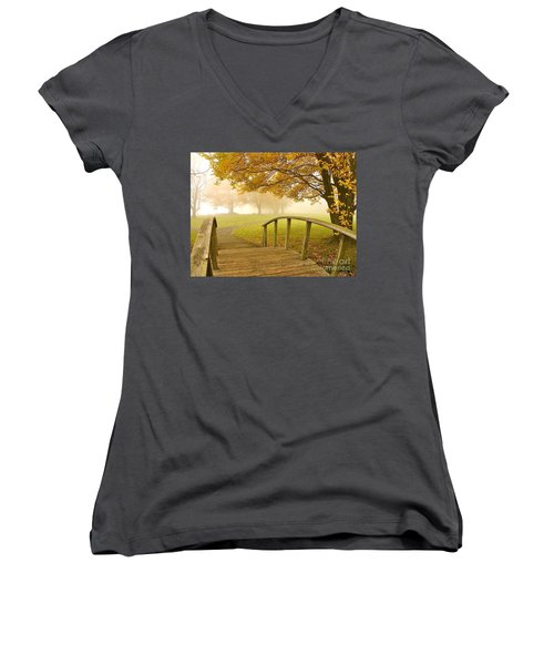 Bridge To Autumn Women's V-Neck (Athletic Fit)