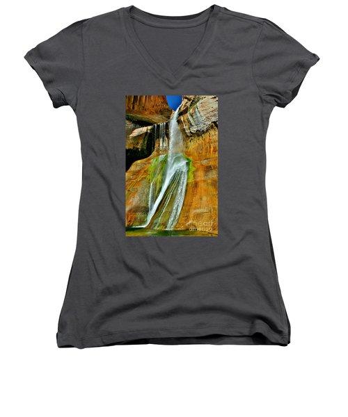 Calf Creek Falls II Women's V-Neck T-Shirt