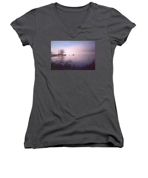 Chippewa River At Dawn Women's V-Neck T-Shirt