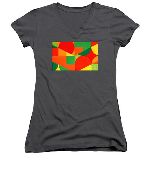Circles Colorized Women's V-Neck T-Shirt