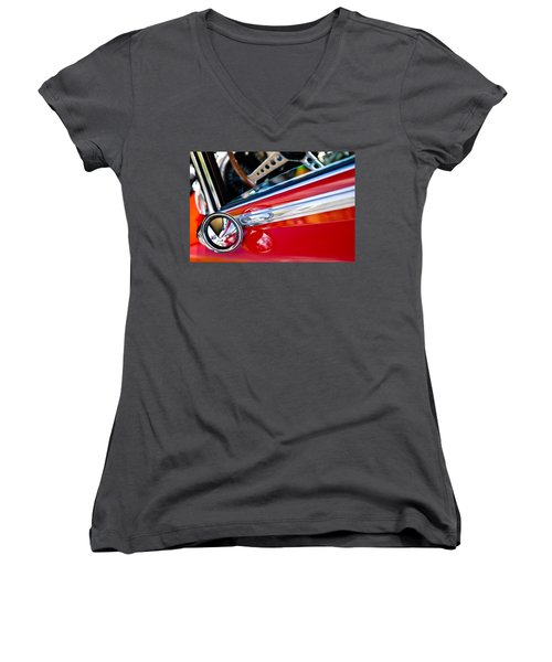 Classic Red Car Artwork Women's V-Neck