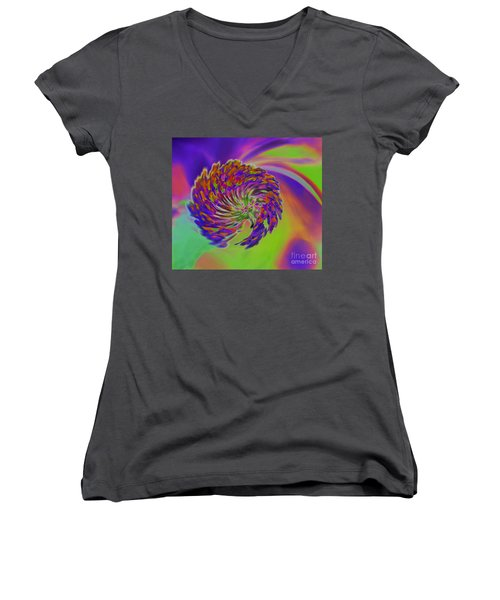 Women's V-Neck T-Shirt (Junior Cut) featuring the photograph Color Splash by Cindy Manero