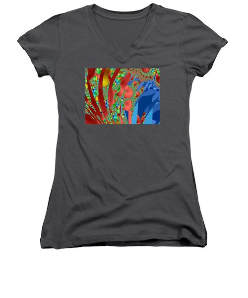 Complex Garden Women's V-Neck T-Shirt (Junior Cut) by Mark Greenberg