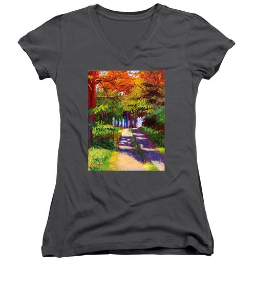Cool Country Land Plein Air Women's V-Neck