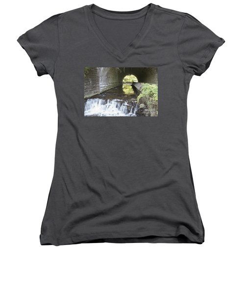 Women's V-Neck T-Shirt (Junior Cut) featuring the photograph Corbetts Glen by William Norton