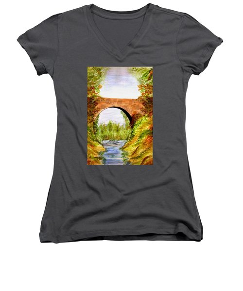 Country Bridge Women's V-Neck T-Shirt