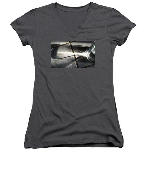Women's V-Neck T-Shirt (Junior Cut) featuring the photograph Cup 3 by Bill Owen