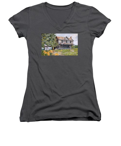 Days Gone By...sold Women's V-Neck T-Shirt