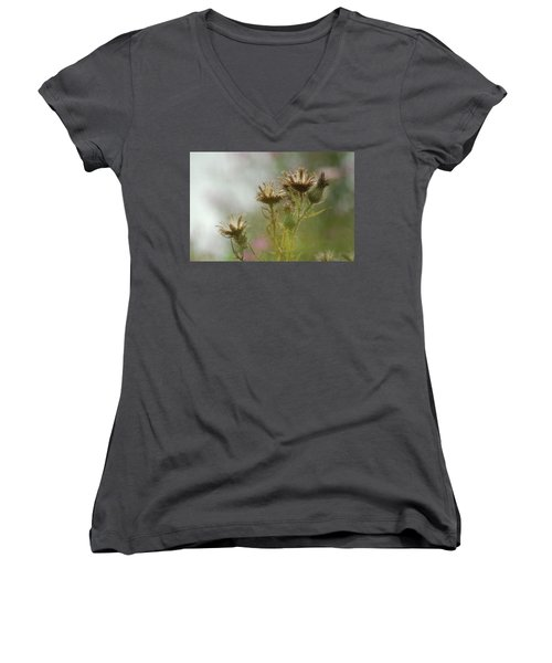 Women's V-Neck T-Shirt (Junior Cut) featuring the photograph Delicate Balance by Tam Ryan