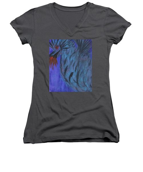 Do Not Dare The Dragon Women's V-Neck T-Shirt (Junior Cut)
