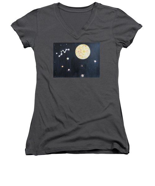 Women's V-Neck T-Shirt (Junior Cut) featuring the painting Dream by Sonali Gangane