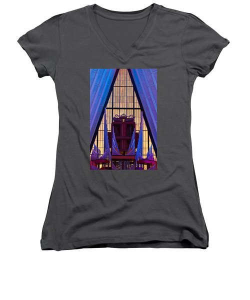Echo Of The Pipes Women's V-Neck