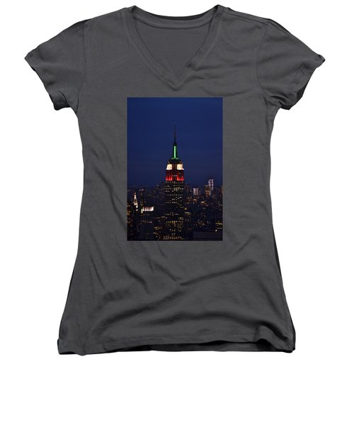 Empire State Building1 Women's V-Neck T-Shirt