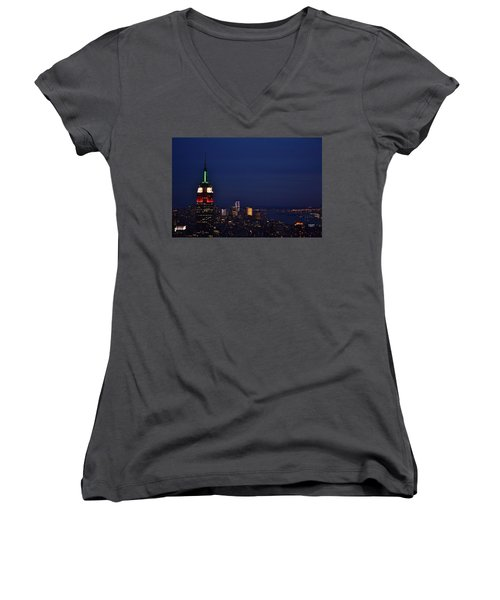 Empire State Building3 Women's V-Neck T-Shirt
