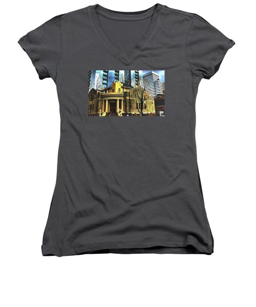 Encroached Women's V-Neck T-Shirt