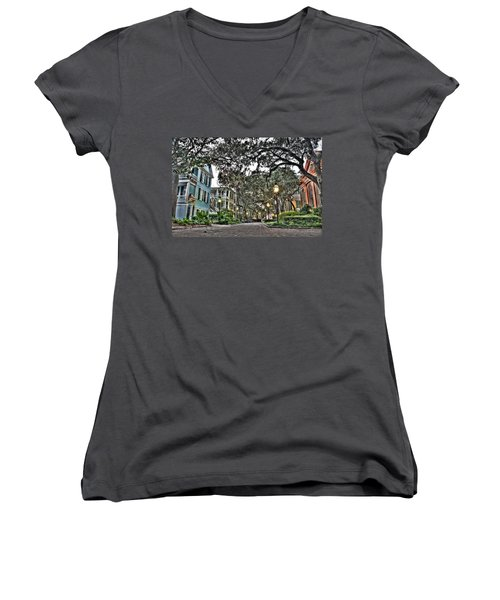 Evening Campus Stroll Women's V-Neck T-Shirt