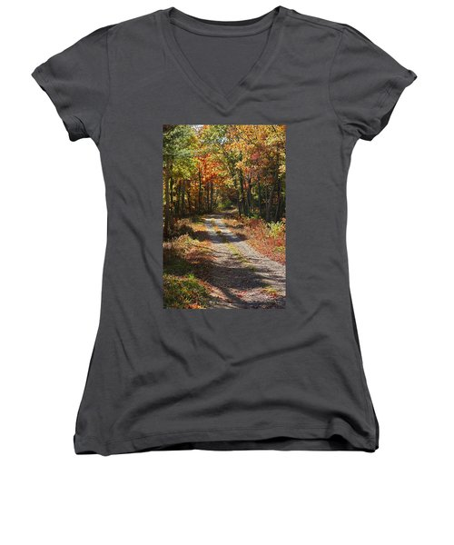 Fall On The Wyrick Trail Women's V-Neck (Athletic Fit)