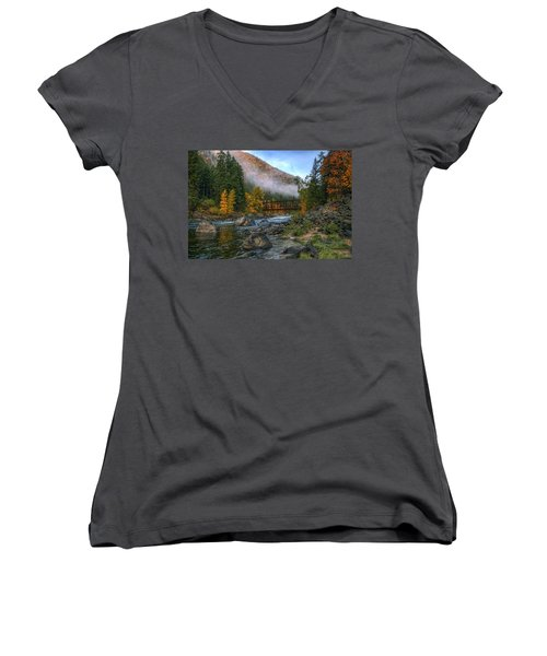 Fall Up The Tumwater Women's V-Neck (Athletic Fit)