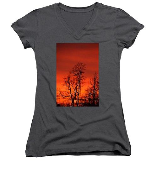 Fire Sky Women's V-Neck T-Shirt