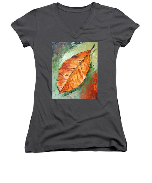 First To Fall Women's V-Neck T-Shirt