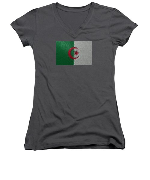 Flag Of Algeria Women's V-Neck T-Shirt