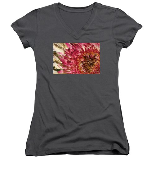 Flower Art Women's V-Neck (Athletic Fit)