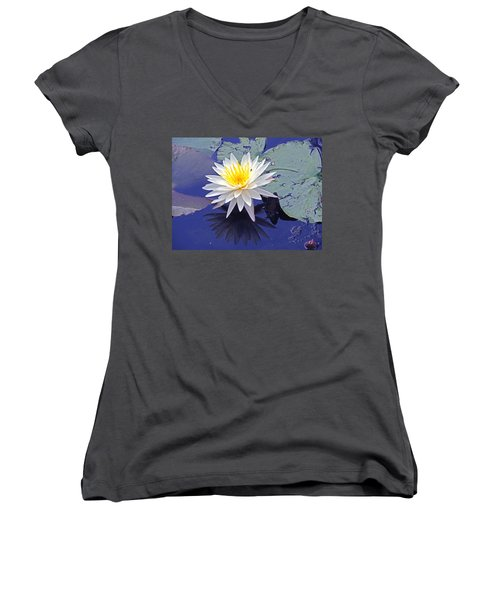 Flowering Lily-pad- St Marks Fl Women's V-Neck (Athletic Fit)