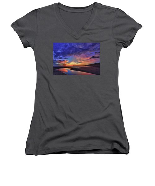Flowing Out To The Ocean Women's V-Neck