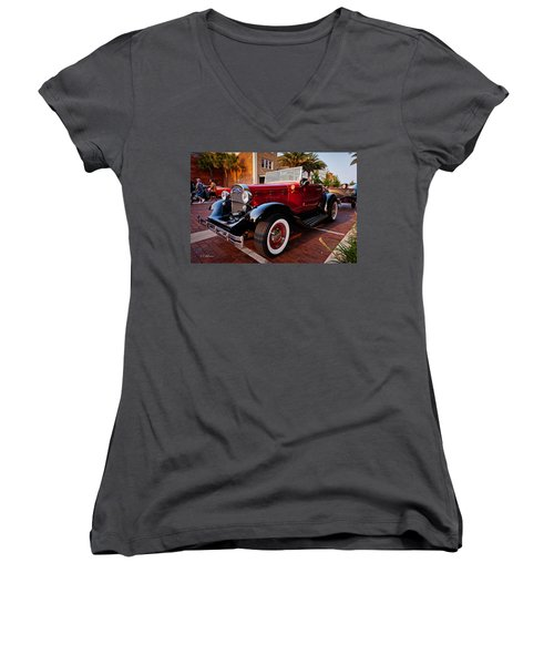 Ford Roadster Women's V-Neck