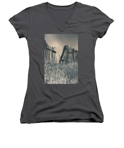 Women's V-Neck T-Shirt (Junior Cut) featuring the photograph Freedom by Mary Almond