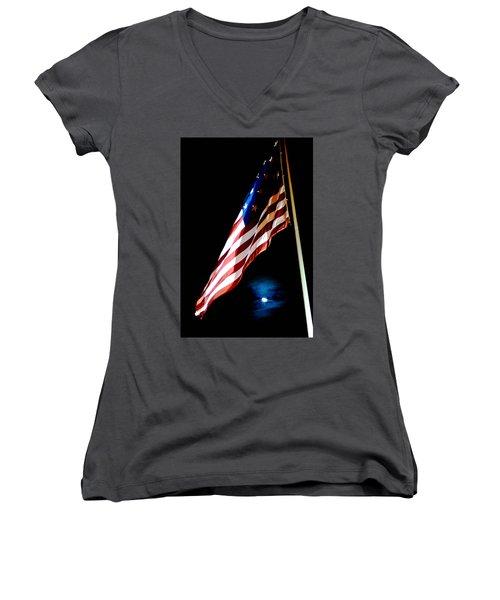 Flag On Federal Hill Women's V-Neck T-Shirt