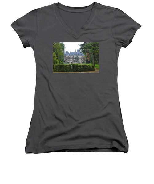 French Country Mansion Women's V-Neck (Athletic Fit)