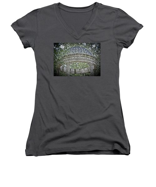 Gazebo At Longwood Gardens Women's V-Neck T-Shirt