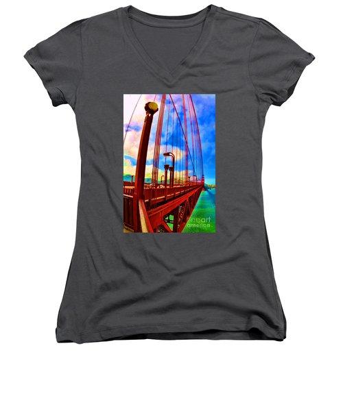 Golden Gate Bridge - 8 Women's V-Neck