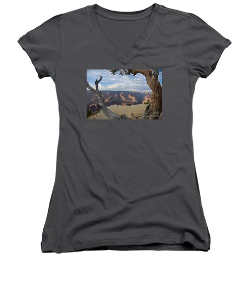 Grand Canyon Tree Women's V-Neck T-Shirt