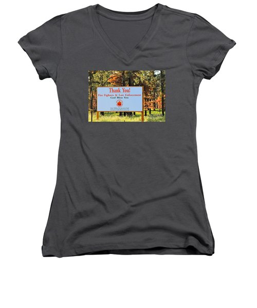 Gratitude Women's V-Neck (Athletic Fit)